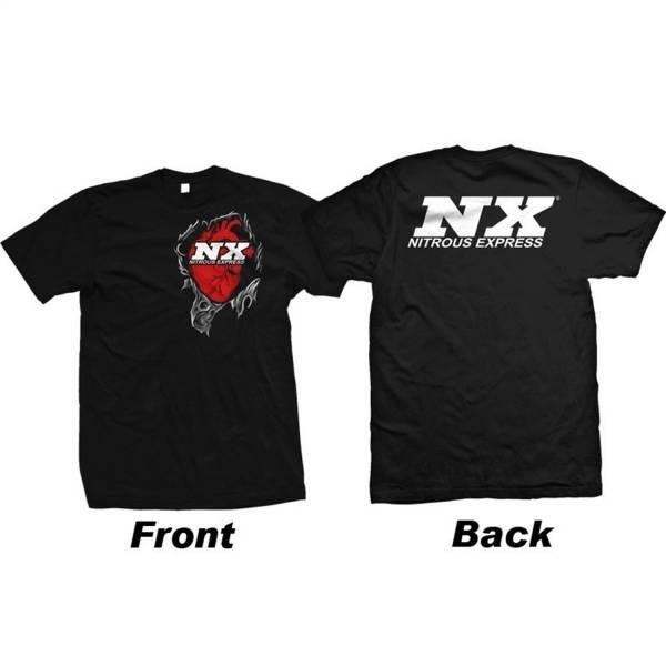 Nitrous Express - Nitrous Express Heart T-Shirt; Medium 19118M