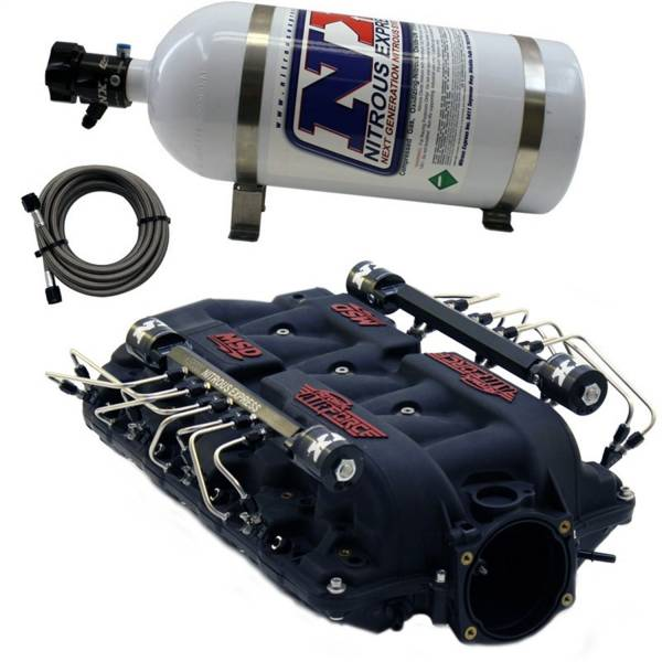 Nitrous Express - Nitrous Express MSD AIRFORCE MANIFOLD FOR LS7 HEADS W/SHARK DIRECT PORT INTAKE025