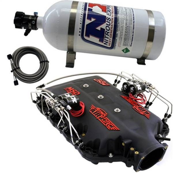 Nitrous Express - Nitrous Express MSD AIRFORCE MANIFOLD FOR 2014-UP LT1 ENGINES W/NX DIRECT PORT INTAKE035