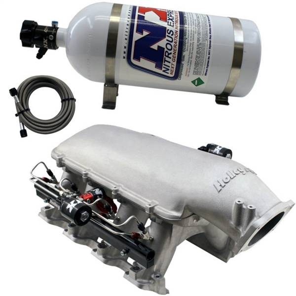 Nitrous Express - Nitrous Express HOLLEY HI-RAM MANIFOLD FOR CATHEDRAL PORT HEADS W/NX DIRECT PORT INTAKE004