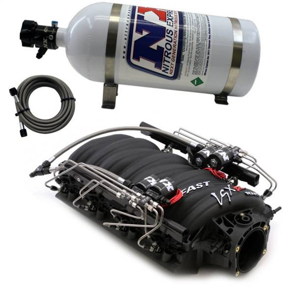 Nitrous Express - Nitrous Express FAST 102 MANIFOLD FOR CATHEDRAL PORT HEADS W/NX SHARK DIRECT PORT INTAKE001