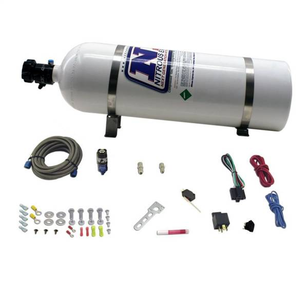 Nitrous Express - Nitrous Express DIESEL DRY NITROUS SYSTEM INCLUDES 15LB BOTTLE; ALL MOUNTING HARDWARE; FOR 50HP. NXD11110