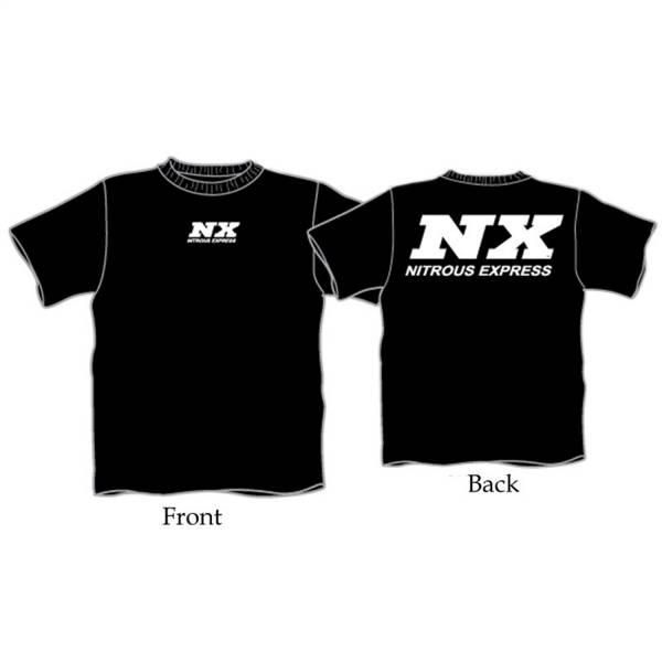 Nitrous Express - Nitrous Express 6X Black T-Shirt W/WHITE NX 16505