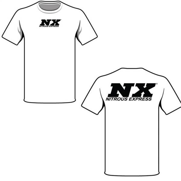 Nitrous Express - Nitrous Express XXX-LARGE WHITE T-SHIRT W/BLACK NX 16517