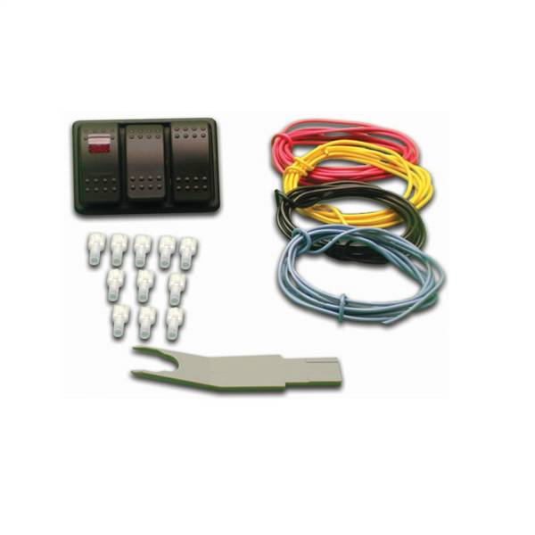 Nitrous Express - Nitrous Express UNIVERSAL CONSOLE SWITCH PANEL (SYSTEM; HEATER; PURGE; AND BOTTLE OPENER) 15896