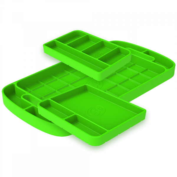 S&B - Tool Tray Silicone 3 Piece Set Color Lime Green S&B