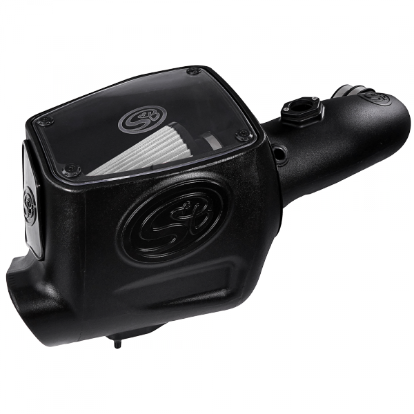 S&B - Cold Air Intake For 08-10 Ford F250 F350 V8-6.4L Powerstroke Dry Extendable White S&B