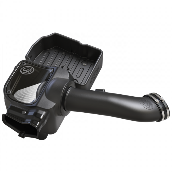 S&B - Cold Air Intake For 17-19 Ford F250 F350 V8-6.7L Powerstroke Dry Extendable White S&B