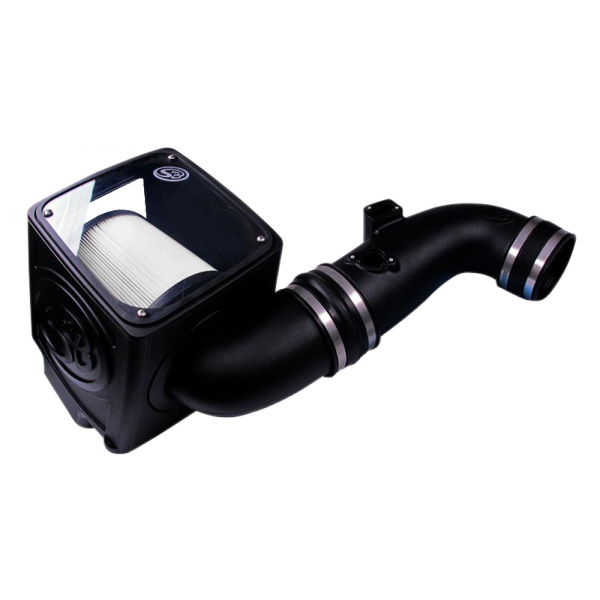 S&B - Cold Air Intake For 11-16 Chevrolet Silverado GMC Sierra V8-6.6L LML Duramax Dry Extendable White S&B