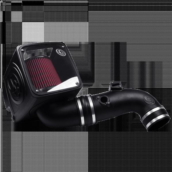S&B - Cold Air Intake For 11-16 Chevrolet Silverado GMC Sierra V8-6.6L LML Duramax Cotton Cleanable Red S&B