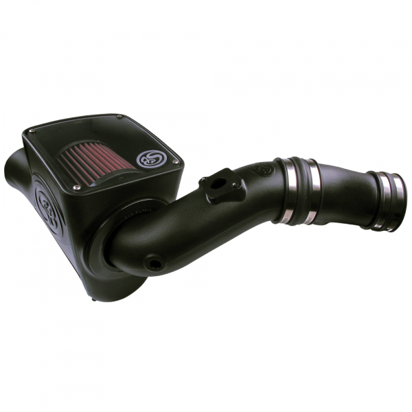 S&B - Cold Air Intake For 03-07 Ford F250 F350 F450 F550 V8-6.0L Powerstroke Cotton Cleanable Red S&B