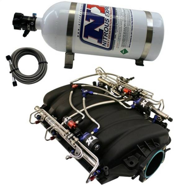 Nitrous Express - Nitrous Express Factory LS3 With Direct Port Water Methanol Injection SNO-INTAKE012
