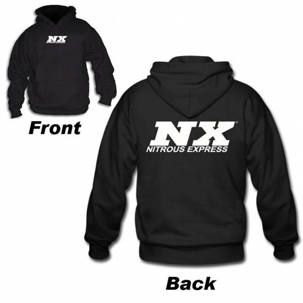 Nitrous Express - Nitrous Express SNOW Hoodie; Black; XXL SNO-19119XXL