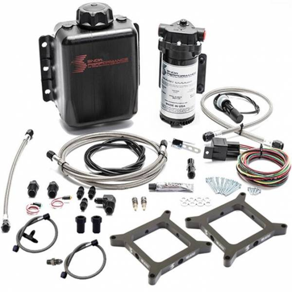 Nitrous Express - Nitrous Express Stage 1 Dual Carb N/A or Forced Induction Water-Methanol Injection kit (Stainles SNO-202-BRD