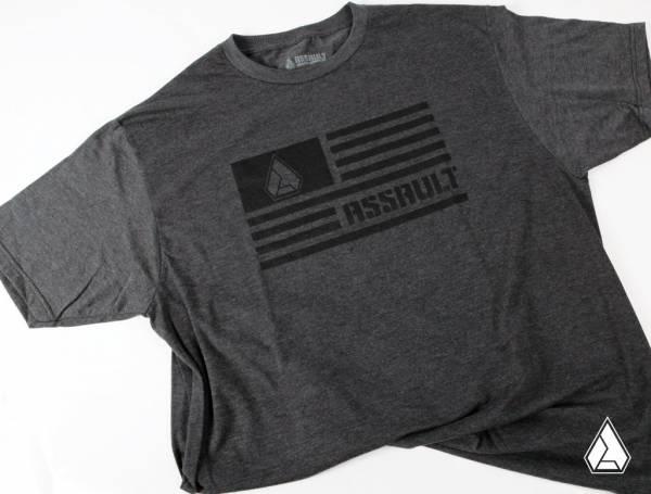 ASSAULT INDUSTRIES - **NEW** Assault Industries Carbon Flag Logo Tee