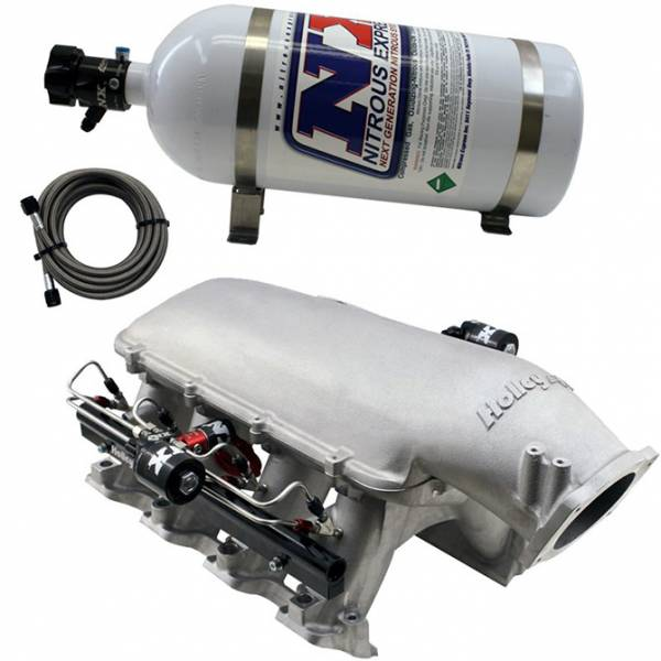 Nitrous Express - Nitrous Express HOLLEY HI-RAM MANIFOLD FOR LS7 HEADS W/Snow DIRECT PORT SNO-INTAKE024