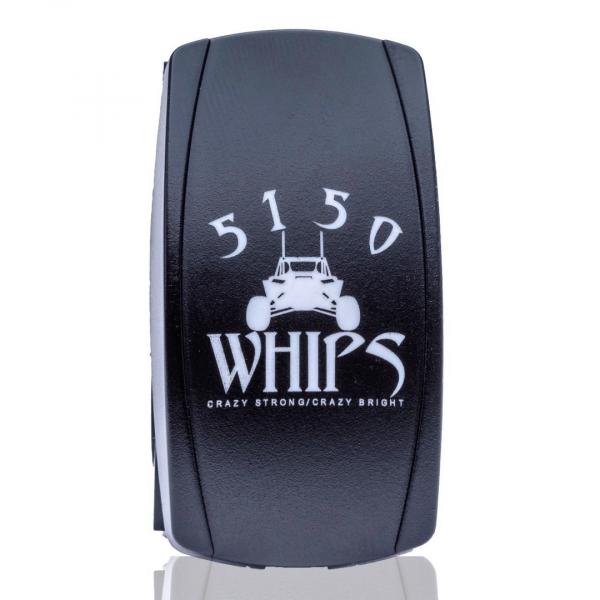 5150 Whips - 5150 WHIPS ROCKER SWITCH LED