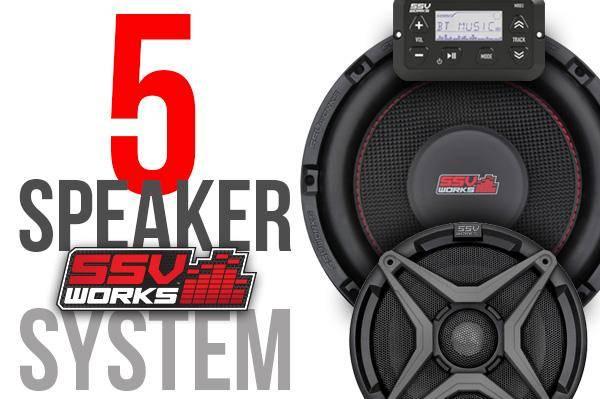 SSV Works  - Polaris RZR XP1000 Complete SSV Works 5-Speaker Plug-&-Play Audio System