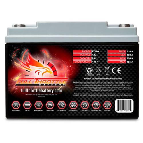 Full Throttle Battery - FT100 High-Performance AGM Battery