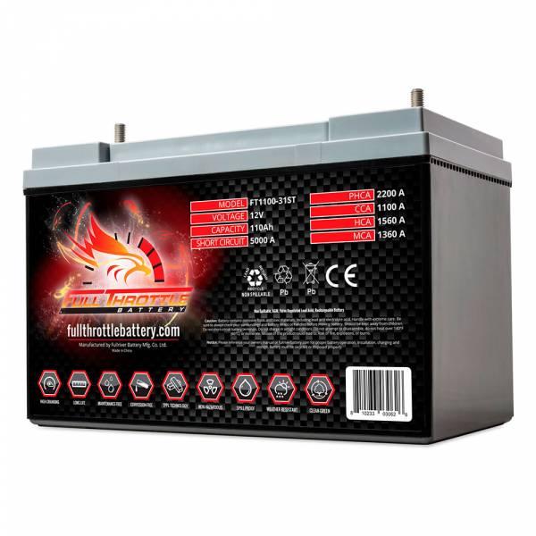 Full Throttle Battery - FT1100-31ST High-Performance AGM Battery
