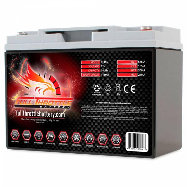 Full Throttle Battery - FT185 High-Performance AGM Battery