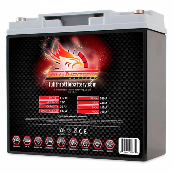 Full Throttle Battery - FT230 High-Performance AGM Battery