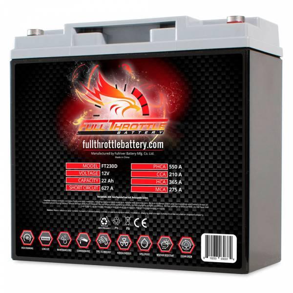 Full Throttle Battery - FT230D High-Performance AGM Battery