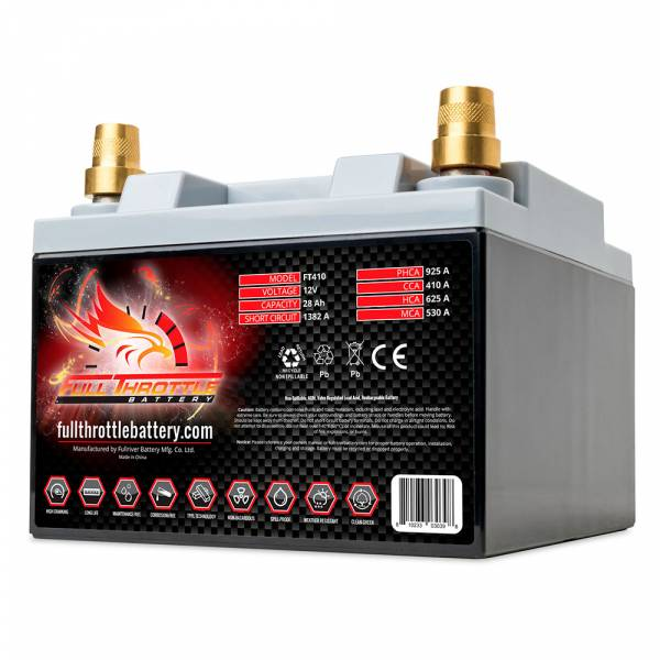 Full Throttle Battery - FT410 High-Performance AGM Battery