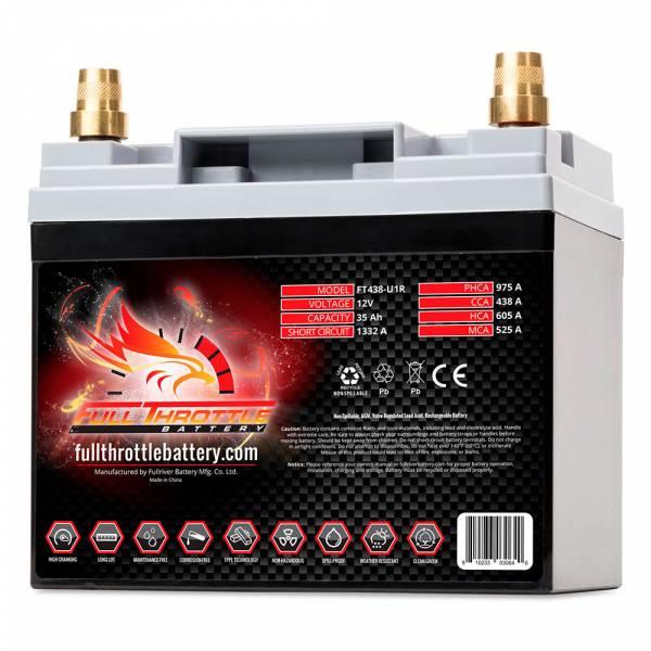 Full Throttle Battery - FT438-U1R High-Performance AGM Battery