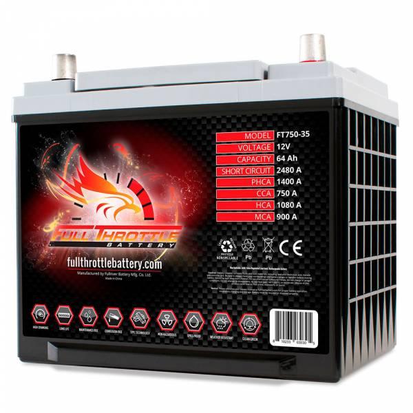Full Throttle Battery - FT750-35 High-Performance AGM Battery