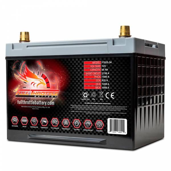 Full Throttle Battery - FT825-34 High-Performance AGM Battery