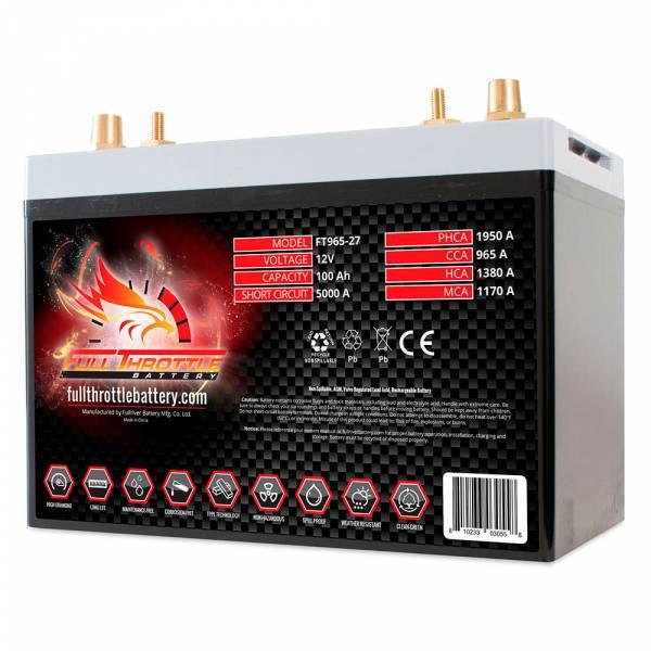 Full Throttle Battery - FT965-27 High-Performance AGM Battery