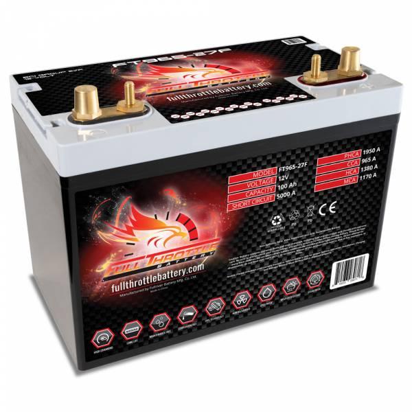 Full Throttle Battery - FT965-27F High-Performance AGM Battery