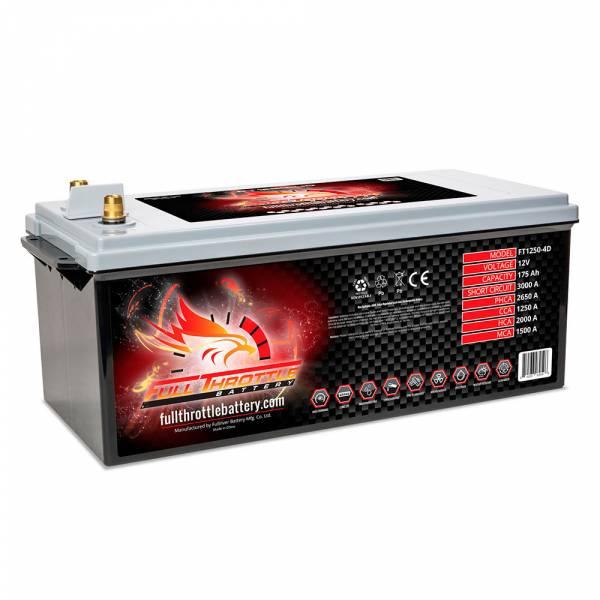 Full Throttle Battery - FT1250-4DLT High-Performance AGM Battery