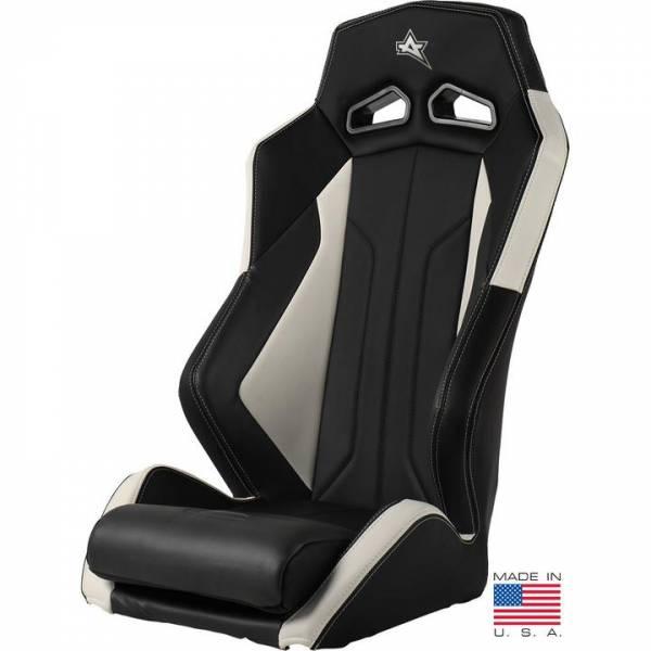 Amped Off-Road - ADS-1 Off-Road UTV Suspension Seat, White/Black, PAIR