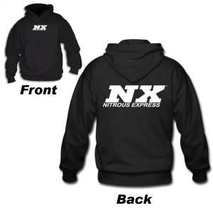 Nitrous Express BLACK NX HOODIE; MED 16595