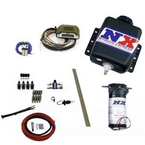 Nitrous Express Direct Port Water Methanol; 4 cylinder stage 2 w/Hardlines 15125H