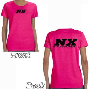 Nitrous Express Pink T-Shirt with Black NX Logo Front and Back; XXXL 16535