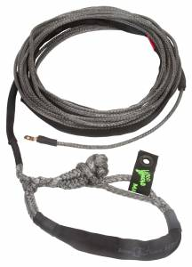 Winch Rope UTV 1/4 Inch x 50 Foot W/ Soft Shackle End Black VooDoo Offroad