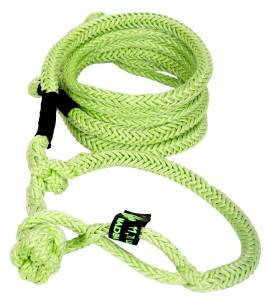 Kinetic Recovery Rope UTV 1/2 Inch x 10 Foot W/2 Soft Shackle Ends Green VooDoo Offroad