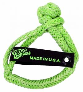 Winch Shackle Soft 3/8 Inch x 7 Inch Green VooDoo Offroad