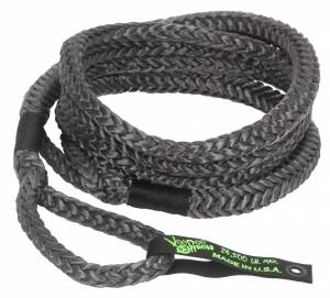 Kinetic Recovery Rope Truck/Jeep 3/4 Inch x 30 Foot Black With Rope Bag VooDoo Offroad
