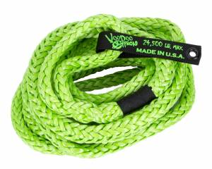 Kinetic Recovery Rope Truck/Jeep 3/4 Inch x 30 Foot Green With Rope Bag VooDoo Offroad