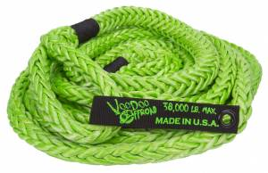 Kinetic Recovery Rope Truck/Jeep 7/8 Inch x 30 Foot Green With Rope Bag VooDoo Offroad