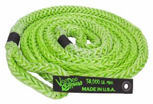 Kinetic Recovery Rope Truck/Jeep 7/8 Inch x 20 Foot Green With Rope Bag VooDoo Offroad