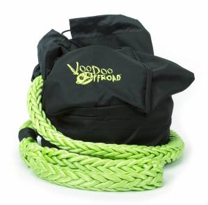 Recovery Rope Bag Green Nylon Mesh Front Panel Zipper VooDoo Offroad