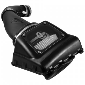Cold Air Intake For 11-16 Ford F250, F350 V8-6.2L Dry Dry Extendable White S&B