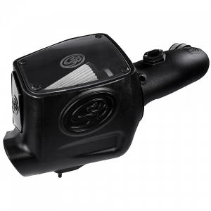 S&B - Cold Air Intake For 08-10 Ford F250 F350 V8-6.4L Powerstroke Dry Extendable White S&B - Image 1