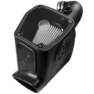 S&B - Cold Air Intake For 08-10 Ford F250 F350 V8-6.4L Powerstroke Dry Extendable White S&B - Image 2
