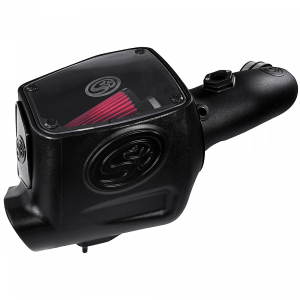 Cold Air Intake For 08-10 Ford F250 F350 V8-6.4L Powerstroke Cotton Cleanable Red S&B